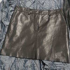 Wilson's leather maxima leather mini skirt